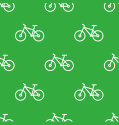 Seamless bike pattern vector