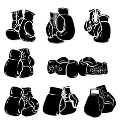 set of boxing glove isolated on white background vector image