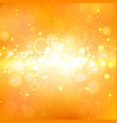 shining orange background with light effects vector image