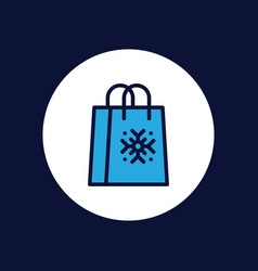 shopping bag icon sign symbol vector image
