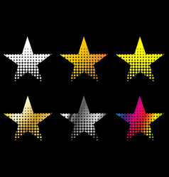 Star set stars of different colors vector
