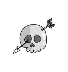 stippled funny skull vector image