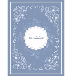 Stylish Vintage Invitation card vector image