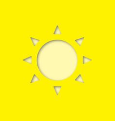 sun paper cut out icon vector image