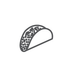 taco icon on white background vector image
