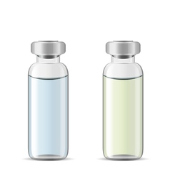 Tall medical vials vector
