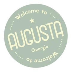 Welcome to augusta georgia vector