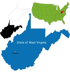 West virginia map vector image