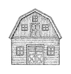 wooden farming barn vector image