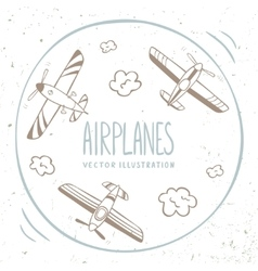 airplanes around vector image
