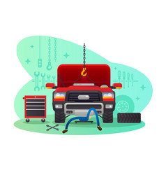 car service garage and workshop vector image vector image