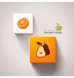 Vegan food concept vector image