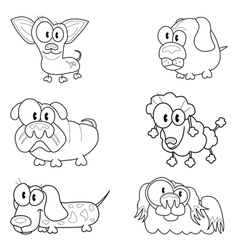 Collection of cartoon dogs vector image vector image