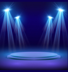 concert stage with spot light lighting show vector image vector image