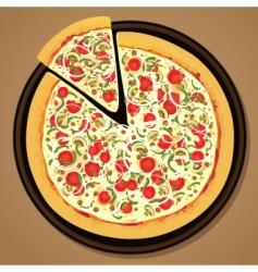 delicious pizza vector image vector image