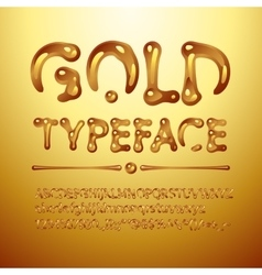 gold typeface vector image