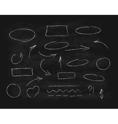 Hand-drawn chalk scribble design elements vector image vector image