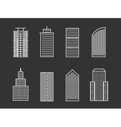 line buildings vector image