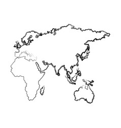 map of europe africa and asia country vector image vector image