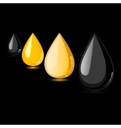 Petroleum gasoline petrol oil drop vector image