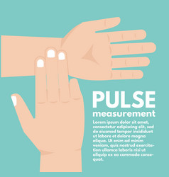 pulse measurement determining heart rate first aid vector image vector image