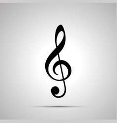 treble clef silhouette simple black icon vector image vector image
