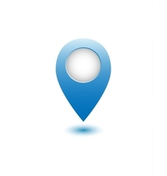 Blue realistic map point vector image vector image