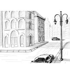 City sketch background vector image
