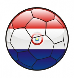 flag of Paraguay on soccer ball vector image vector image