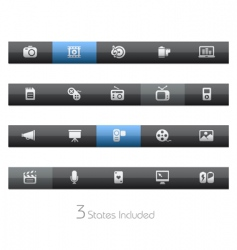 multimedia bars vector image