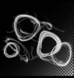 realistic cigarette smoke waves set of vector image vector image