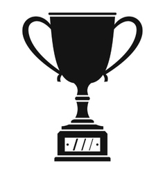 Winner cup icon simple style vector image