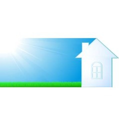 house silhouette on sky background vector image