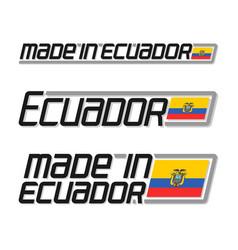 made in ecuador vector image