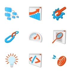 Promotion icons set cartoon style vector image vector image