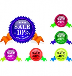 sale sample set vector image vector image