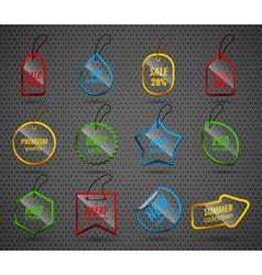 Set of design glass elements vector image vector image
