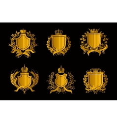 Shields set of Design Elements vector image vector image