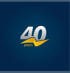 40 years anniversary celebration white blue vector