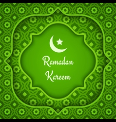 arabic background ramadan green vector image