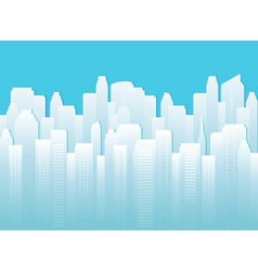 background with urban landscape vector image