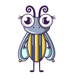 Biology fly icon cartoon style vector