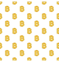 Bitcoin currency symbol pattern cartoon style vector