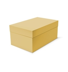 Blank paper or cardboard box template vector