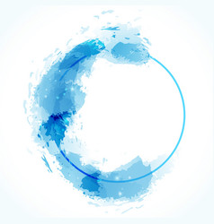 Blue zen circle abstract modern calm design vector
