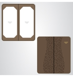 Brown leather folder for the VIP restaurant vector image