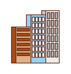 building business office or apartment residential vector image