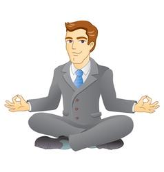 Business meditation vector