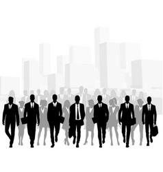 business people in big city vector image
