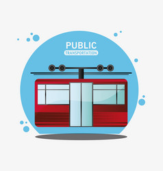 Cable railway public transport vector